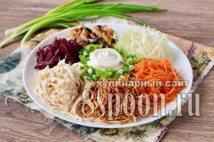 салат кучками рецепт с фото пошагово_6