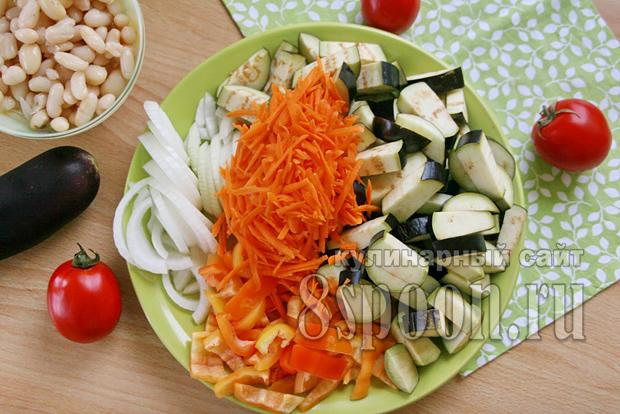 салат на зиму из баклажан и фасоли фото 4