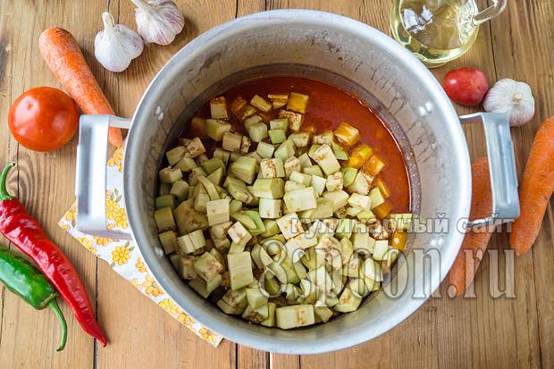 Салат из баклажан на зиму «Кубанский» фото_09