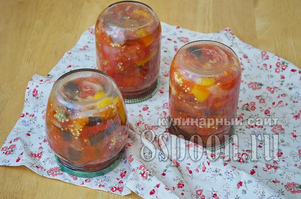Соте из баклажанов на зиму- рецепт с фото_09