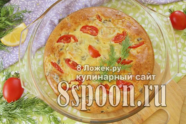 Пирог с рыбными консервами и картошкой фото  _01