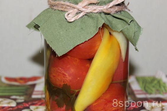 Ассорти овощное на зиму (помидоры с перцем и огурцами)