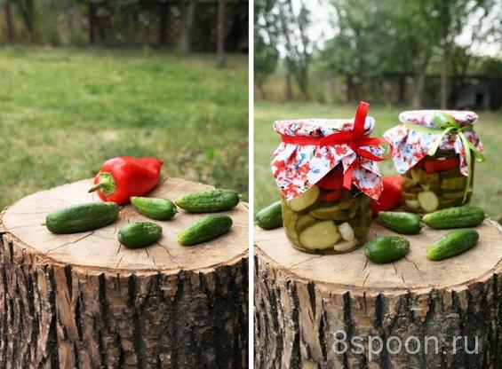 салат из огурцов и перцев фото 4