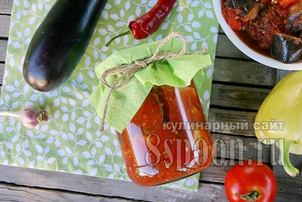 Баклажаны в томатном соке на зиму рецепт с фото_03
