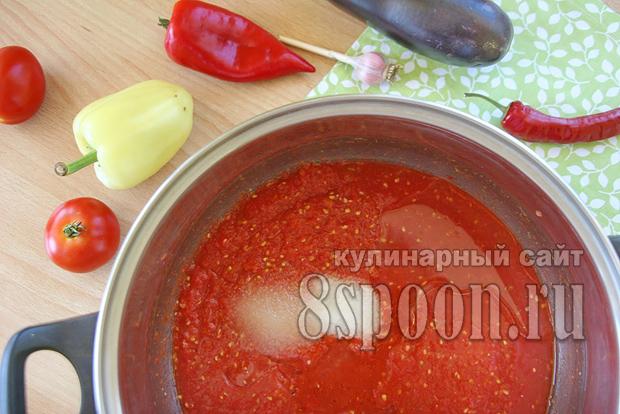 Баклажаны в томатном соке на зиму рецепт с фото_07