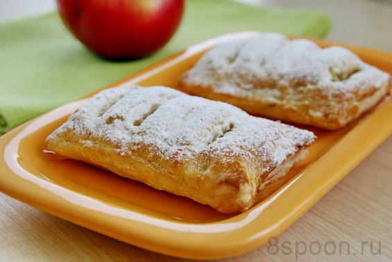 слойки с яблоками  фото, как приготовить