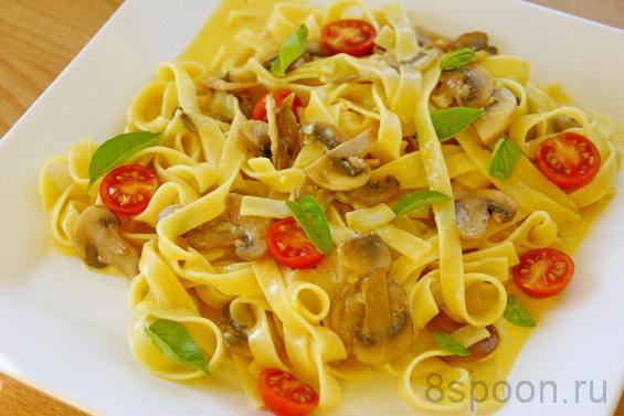 паста с грибами с соусом из пармезана фото 21