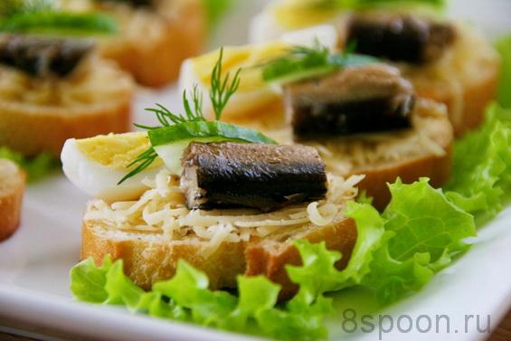 бутерброды со шпротами фото 10