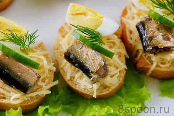 бутерброды со шпротами фото 11
