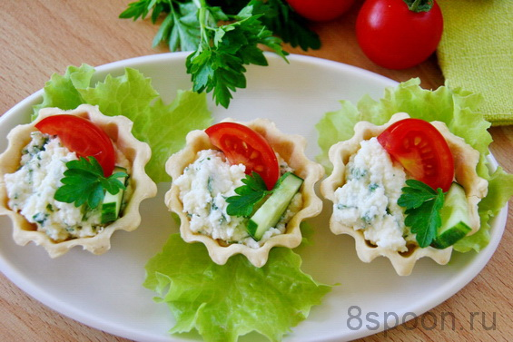 тарталетки с фетой и помидорами фото 13