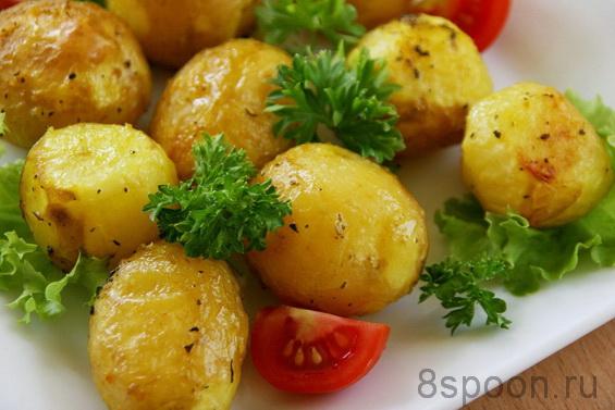 Молодой картофель в духовке фото 10
