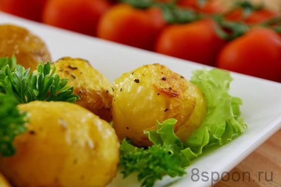 Молодой картофель в духовке фото 8