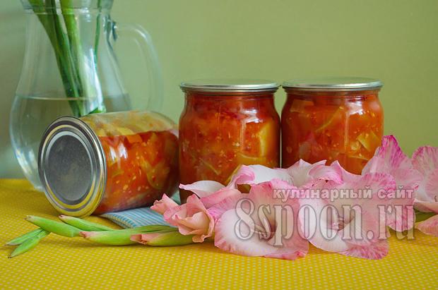 """Салат из кабачков на зиму """"Тещин язык"""""""