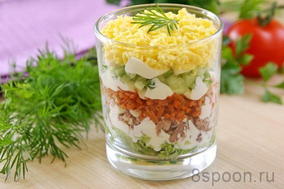 салат с печенью трески фото 8