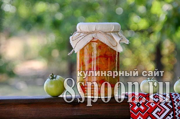 Салат из зеленых помидор на зиму «Краски осени»_1