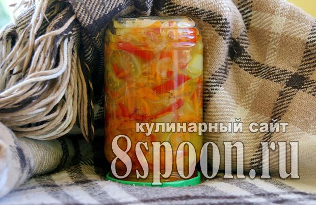 Салат из зеленых помидор на зиму «Краски осени»_8