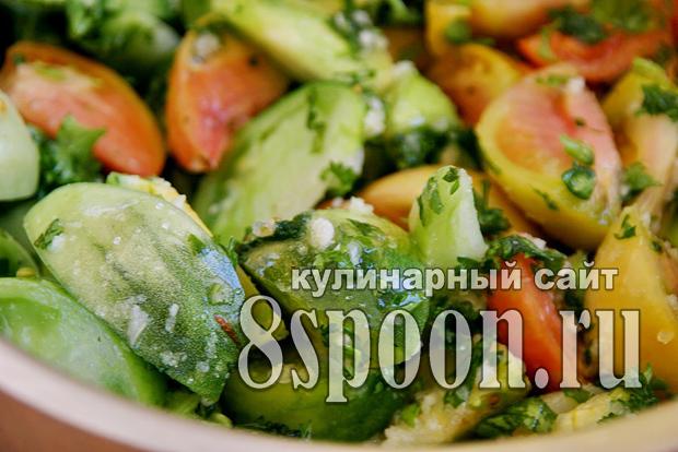 Салат из зеленых помидор на зиму «Вкуснота»_06