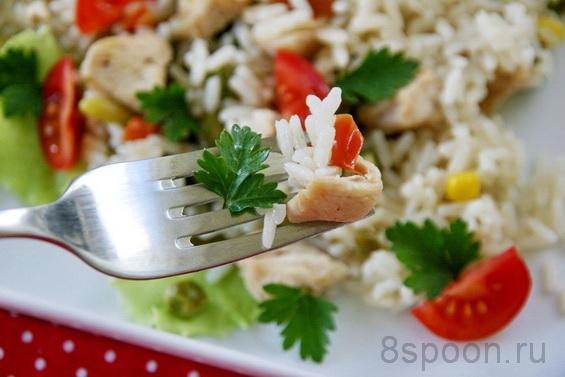 рис с курицей и овощами в духовке фото 10