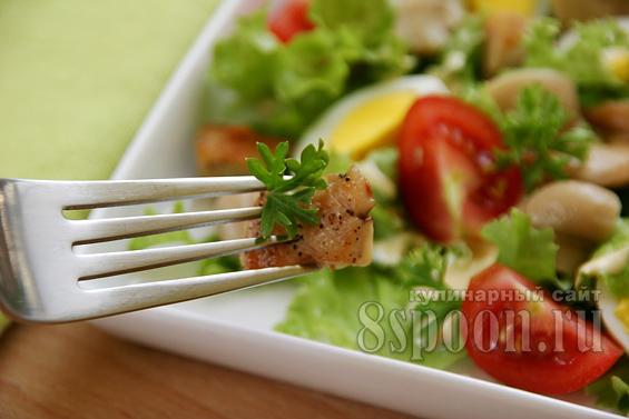 Салат с курицей и грибами фото 13