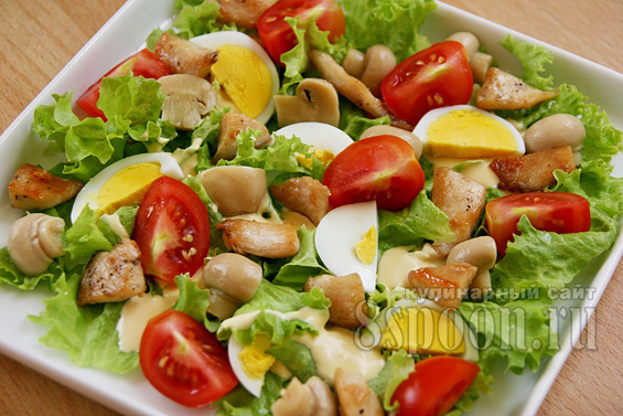 Салат с курицей и грибами фото 7