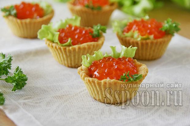 Начинка для тарталеток с икрой и зеленым маслом фото 10