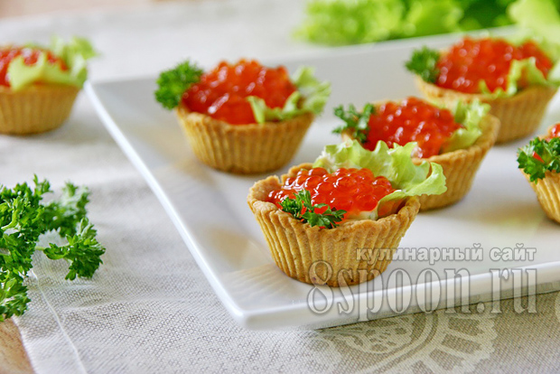 Начинка для тарталеток с икрой и зеленым маслом фото 11