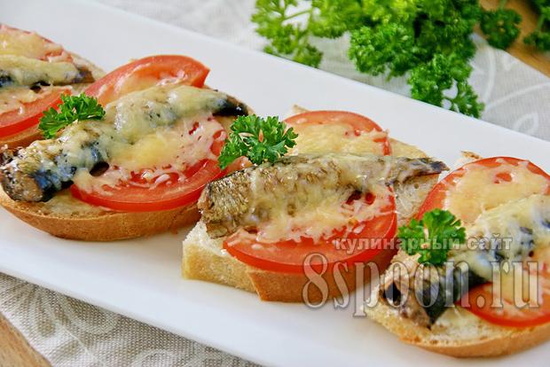 бутерброды со шпротами в духовке фото 12
