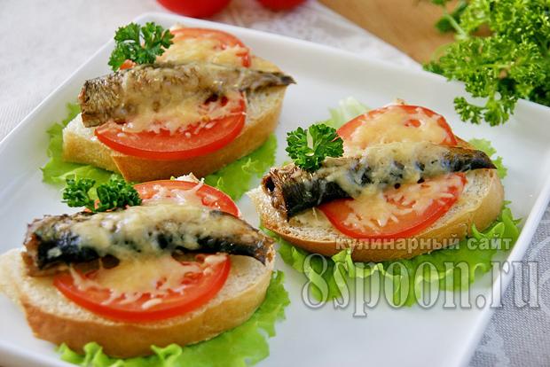 бутерброды со шпротами в духовке фото 16