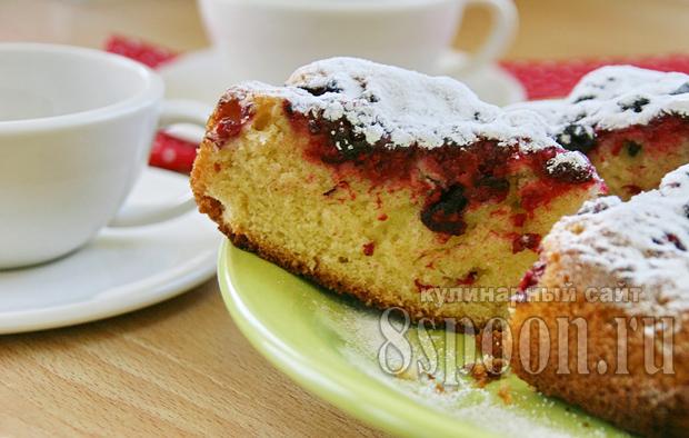 Открытый пирог с ягодами: рецепт с фото