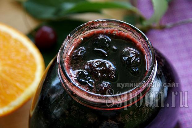 Варенье из вишни с апельсином «Рубиновая ночь»_7