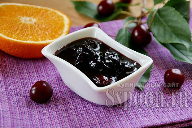 Варенье из вишни с апельсином «Рубиновая ночь»_9