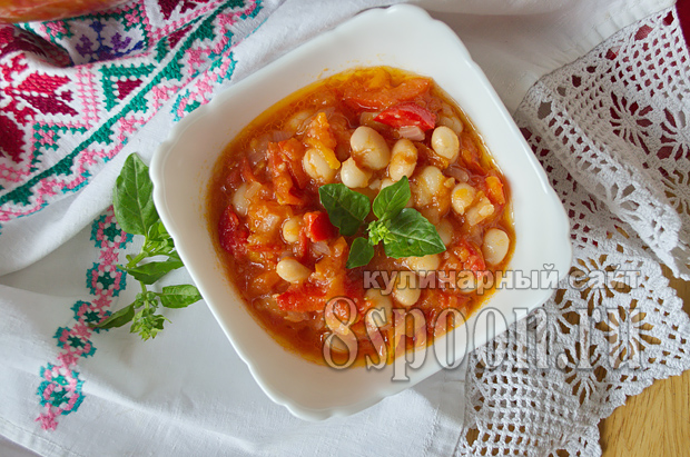 Лечо из болгарского перца на зиму с фасолью рецепт с фото_14