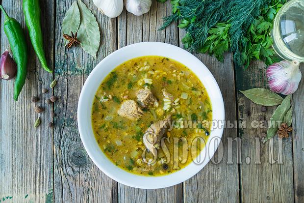 Суп харчо классический рецепт с фото пошагово_01