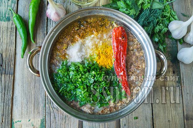 Суп харчо классический рецепт с фото пошагово_10