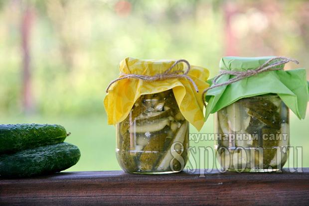 Салат из огурцов на зиму «Пикантный»