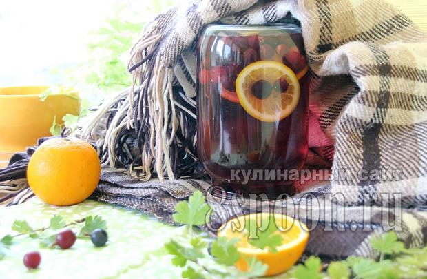 Компот из крыжовника с апельсином фото 6
