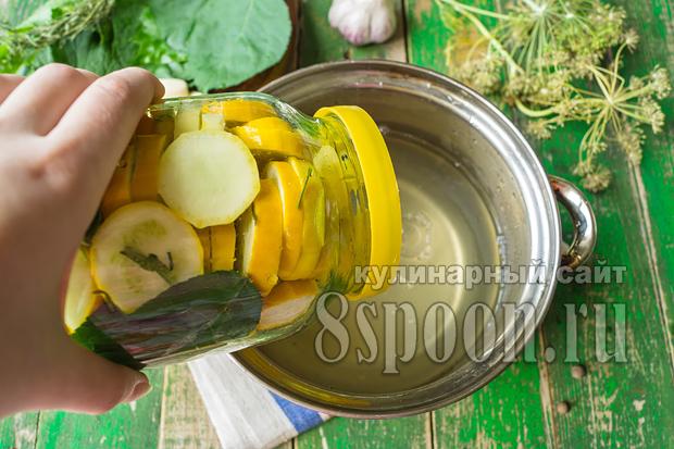 Маринованные кабачки на зиму без стерилизации на литровую банку_12