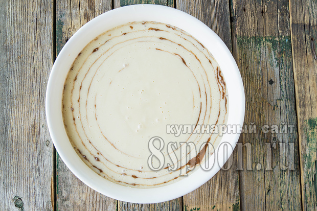 Пирог зебра на кефире рецепт с фото _03