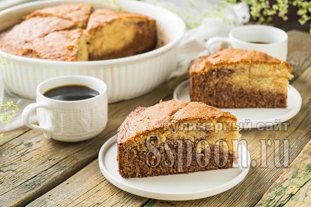 Пирог зебра на кефире рецепт с фото _07