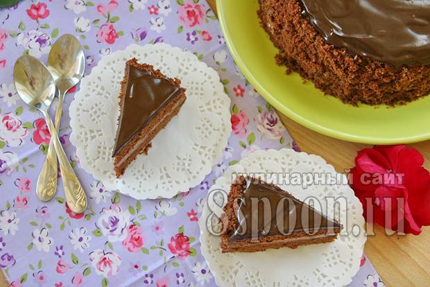 Торт пражский рецепт с фото пошагово _07
