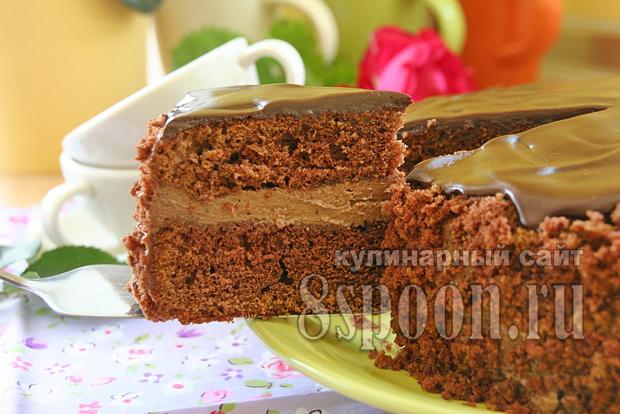Пражский торт с фото пошагово _10