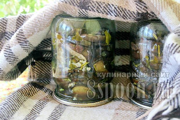 Жареные баклажаны с чесноком на зиму фото_11