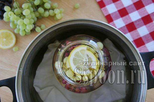 Компот из винограда с лимоном фото 4