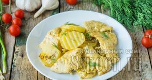 Куриная грудка с картошкой в духовке фото_2