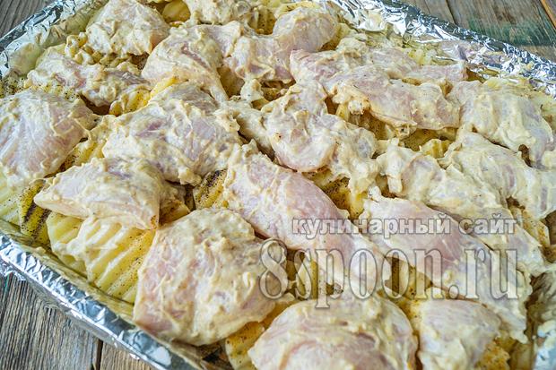 Куриная грудка с картошкой в духовке фото_5