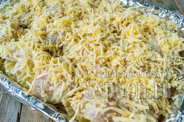 Куриная грудка с картошкой в духовке фото_6