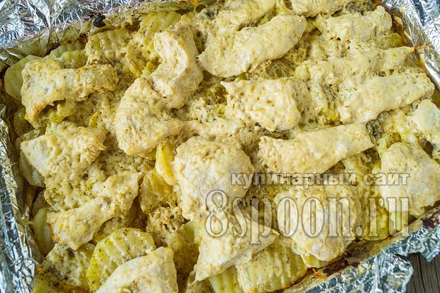 Куриная грудка с картошкой в духовке фото_7