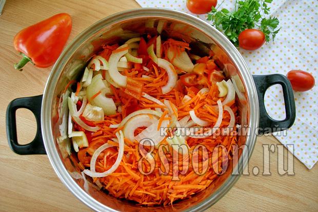 Лечо с морковью и луком рецепт с фото_05