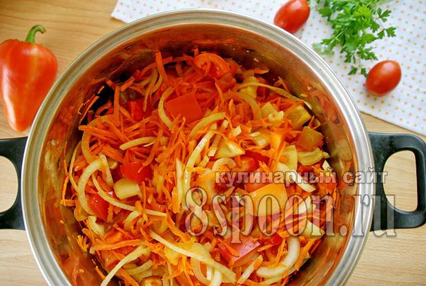 Лечо с морковью и луком рецепт с фото_06