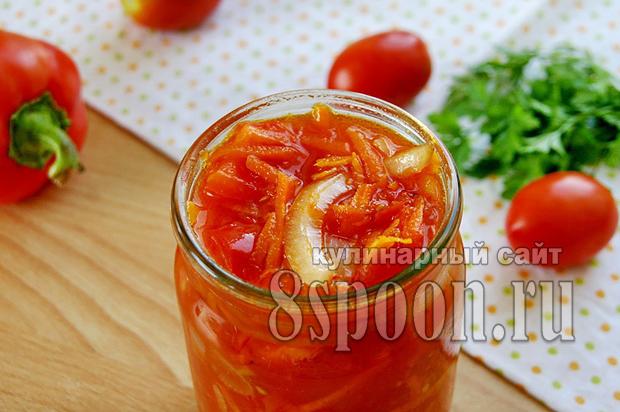 Лечо с морковью и луком рецепт с фото_09